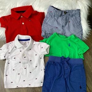 Luxury Brands Shorts (2) and Tops (3) Set